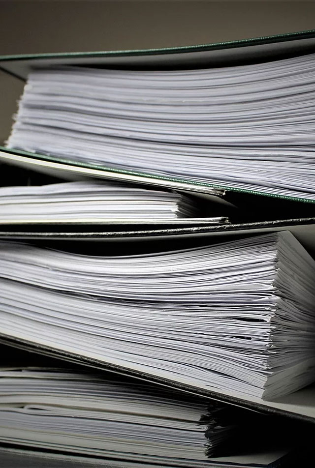 Organised Required Documents